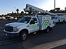 Altec AT235, Articulating & Telescopic Non-Insulated Bucket Truck, mounted behind cab on, 2003 Ford F450 Service Truck