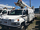 Altec AT235, Articulating & Telescopic Non-Insulated Bucket Truck mounted behind cab on 2005 GMC C5500 Enclosed Service Truck