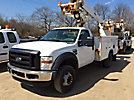 Altec AT235, Double-Elevator Material Handling Bucket Truck, mounted behind cab on, 2008 Ford F450 Service Truck