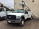 Altec AT235-P, Articulating & Telescopic Non-Insulated Bucket Truck mounted behind cab on 2007 Ford F550 Service Truck