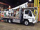 Altec AT30G, Telescopic Bucket Truck mounted behind cab on 2007 GMC W4500 Flatbed Truck