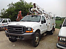 Altec AT35G, Articulating & Telescopic Bucket Truck, mounted behind cab on, 1999 Ford F450 Service Truck