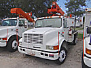 Altec AT35G, Articulating & Telescopic Bucket Truck, mounted behind cab on, 1999 International 4700 Utility Truck