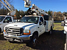 Altec AT35G, Articulating & Telescopic Bucket Truck, mounted behind cab on, 2000 Ford F450 Service Truck