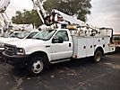 Altec AT35G, Articulating & Telescopic Bucket Truck, mounted behind cab on, 2002 Ford F550 Service Truck