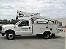 Altec AT35G, Articulating & Telescopic Bucket Truck, mounted behind cab on, 2003 Ford F550 4x4 Service Truck