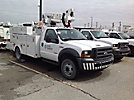 Altec AT35G, Articulating & Telescopic Bucket Truck, mounted behind cab on, 2005 Ford F550 Service Truck