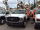 Altec AT35G, Articulating & Telescopic Bucket Truck, mounted behind cab on, 2006 Ford F550 4x4 Service Truck