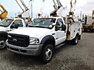 Altec AT35G, Articulating & Telescopic Bucket Truck, mounted behind cab on, 2006 Ford F550 Service Truck