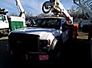 Altec AT35G, Articulating & Telescopic Bucket Truck, mounted behind cab on, 2008 Ford F550 4x4 Service Truck