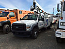 Altec AT35G, Articulating & Telescopic Bucket Truck, mounted behind cab on, 2008 Ford F550 Service Truck
