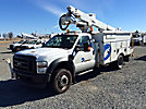 Altec AT35G, Articulating & Telescopic Bucket Truck, mounted behind cab on, 2009 Ford F550 4x4 Service Truck