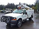 Altec AT35G, Articulating & Telescopic Bucket Truck mounted behind cab on 1999 Ford F550 4x4 Service Truck