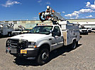 Altec AT35G, Articulating & Telescopic Bucket Truck mounted behind cab on 2002 Ford F550 4x4 Service Truck