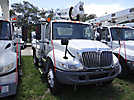 Altec AT35G, Articulating & Telescopic Bucket Truck mounted behind cab on 2005 International 4200 Flatbed Truck