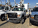 Altec AT35G, Articulating & Telescopic Bucket Truck mounted behind cab on 2008 Ford F550 Service Truck