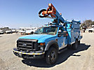 Altec AT37-G, Articulating & Telescopic Bucket Truck mounted behind cab on 2010 Ford F550 4x4 Service Truck