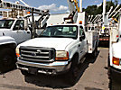 Altec AT37G, Articulating & Telescopic Bucket Truck, mounted behind cab on, 2000 Ford F550 4x4 Service Truck