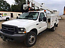 Altec AT37G, Articulating & Telescopic Bucket Truck, mounted behind cab on, 2002 Ford F550 4x4 Service Truck