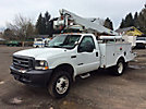 Altec AT37G, Articulating & Telescopic Bucket Truck, mounted behind cab on, 2003 Ford F550 4x4 Service Truck