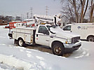 Altec AT37G, Articulating & Telescopic Bucket Truck, mounted behind cab on, 2004 Ford F550 4x4 Service Truck