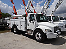 Altec AT37G, Articulating & Telescopic Bucket Truck, mounted behind cab on, 2005 Freightliner M2 106 Utility Truck