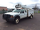 Altec AT37G, Articulating & Telescopic Bucket Truck, mounted behind cab on, 2006 Ford F550 4x4 Extended-Cab Service Truck