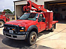 Altec AT37G, Articulating & Telescopic Bucket Truck, mounted behind cab on, 2006 Ford F550 4x4 Flatbed/Utility Truck