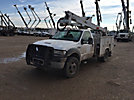 Altec AT37G, Articulating & Telescopic Bucket Truck, mounted behind cab on, 2006 Ford F550 4x4 Service Truck