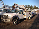 Altec AT37G, Articulating & Telescopic Bucket Truck, mounted behind cab on, 2006 Ford F550 Service Truck