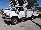 Altec AT37G, Articulating & Telescopic Bucket Truck, mounted behind cab on, 2006 GMC C5500 Service Truck