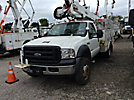 Altec AT37G, Articulating & Telescopic Bucket Truck, mounted behind cab on, 2007 Ford F550 4x4 Service Truck