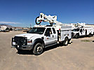 Altec AT37G, Articulating & Telescopic Bucket Truck, mounted behind cab on, 2008 Ford F550 4x4 Extended-Cab Service Truck