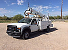 Altec AT37G, Articulating & Telescopic Bucket Truck, mounted behind cab on, 2008 Ford F550 4x4 Service Truck