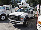 Altec AT37G, Articulating & Telescopic Bucket Truck, mounted behind cab on, 2008 Ford F550 Service Truck