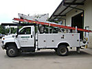 Altec AT37G, Articulating & Telescopic Bucket Truck, mounted behind cab on, 2008 GMC C5500 4x4 Utility Truck