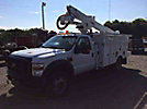 Altec AT37G, Articulating & Telescopic Bucket Truck, mounted behind cab on, 2009 Ford F550 4x4 Service Truck