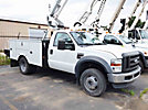 Altec AT37G, Articulating & Telescopic Bucket Truck, mounted behind cab on, 2009 Ford F550 Service Truck