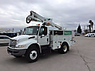 Altec AT37G, Articulating & Telescopic Bucket Truck, mounted behind cab on, 2010 International 4300 Utility Truck