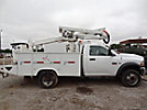 Altec AT37G, Articulating & Telescopic Bucket Truck, mounted behind cab on, 2011 Dodge W5500 4x4 Service Truck