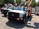 Altec AT37G, Articulating & Telescopic Bucket Truck, mounted behind cab on, 2011 Ford F550 4x4 Service Truck