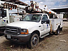 Altec AT37G, Articulating & Telescopic Bucket Truck mounted behind cab on 2001 Ford F550 4x4 Service Truck