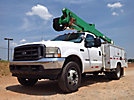 Altec AT37G, Articulating & Telescopic Bucket Truck mounted behind cab on 2002 Ford F550 Service Truck