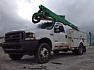 Altec AT37G, Articulating & Telescopic Bucket Truck mounted behind cab on 2003 Ford F550 Service Truck