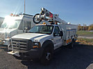 Altec AT37G, Articulating & Telescopic Bucket Truck mounted behind cab on 2005 Ford F550 Service Truck