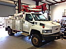 Altec AT37G, Articulating & Telescopic Bucket Truck mounted behind cab on 2005 GMC C5500 4x4 Service Truck