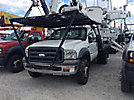 Altec AT37G, Articulating & Telescopic Bucket Truck mounted behind cab on 2006 Ford F550 4x4 Flatbed Truck