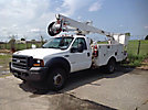 Altec AT37G, Articulating & Telescopic Bucket Truck mounted behind cab on 2006 Ford F550 4x4 Service Truck
