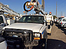Altec AT37G, Articulating & Telescopic Bucket Truck mounted behind cab on 2007 Ford F550 4x4 Service Truck