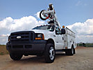 Altec AT37G, Articulating & Telescopic Bucket Truck mounted behind cab on 2007 Ford F550 Service Truck